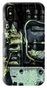 Old Tractor Weed Engine In Blue IPhone Case