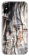 Old Tree Stump Tree Without Bark IPhone Case