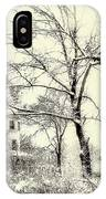Old Victorian In Winter IPhone Case