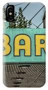 Old Vintage Bar Neon Sign Livingston Montana IPhone Case