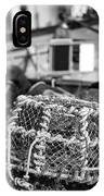 Old Vintage Hand Made Rope Lobster Pot Used In Fishing Industry IPhone Case