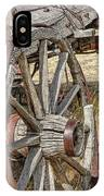Old Wagon Wheels From Montana IPhone Case