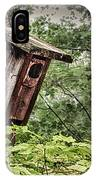 Old Weathered Worn Bird House In Summer IPhone Case