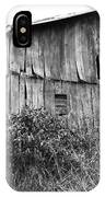 Old West Virginia Barn Black And White IPhone Case