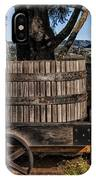 Old Wine Barrel And Wagon - Napa Valley IPhone Case