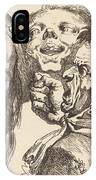 Old Woman Scolding A Man IPhone Case