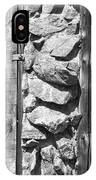 Old Wood Door Window And Stone In Black And White IPhone Case