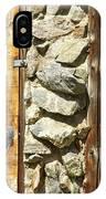 Old Wood Door Window And Stone IPhone Case