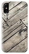 Old Wooden Boards Nailed IPhone Case