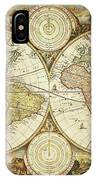 Old World Map On Gold IPhone Case