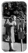 Older Woman Paying Parking Meter IPhone Case