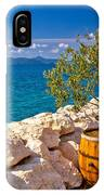 Olive Tree In Barrel By The Sea IPhone Case