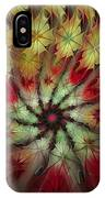 On A Windy Autumn Day IPhone Case