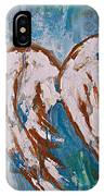 On Angel Wings IPhone Case