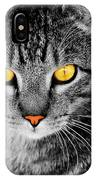 On Cat Watch IPhone Case