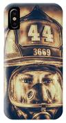 On Duty And Into Fire_dramatic IPhone Case