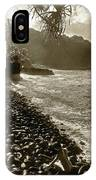 On The Rocks Bw IPhone Case