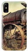 On The Water Wagon - Agricultural Relic IPhone Case by Gary Heller