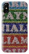 One Direction Names Bottle Cap Mosaic IPhone Case