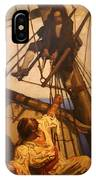 One More Step Mr. Hands - N.c. Wyeth Painting IPhone Case