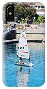One-person Sailboats By The Commercial Pier In Monterey-california IPhone Case