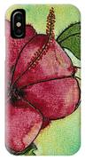 One Pink Hibiscus IPhone Case