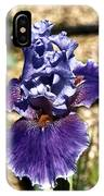 One Sole Iris In Bloom IPhone Case