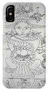 One Thru Nine Drawing IPhone Case