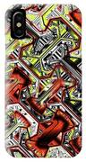One Version Yellow And Red Abstract IPhone Case