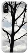 One Winter Tree With Clouds IPhone Case