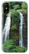 Opaekaa Waterfall IPhone Case