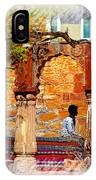 Open Air Bed Among The Arches India Rajasthan 1a IPhone Case