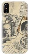 Optical Illusion With Prints And Pamphlets, L. Groskopf, C. 1746 IPhone Case