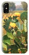 Opuntia In Bloom IPhone Case