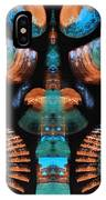 Orange And Blue Abstract 1 IPhone Case