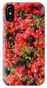 Orange And Colral-pink Flowers 2 IPhone Case