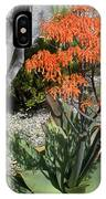 Orange And Pink Exotic Bell Flowers IPhone Case
