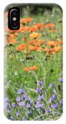 Orange And Purple Dream Flowers IPhone Case