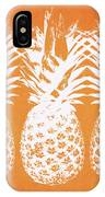 Orange And White Pineapples- Art By Linda Woods IPhone Case by Linda Woods
