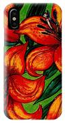 Orange Asiatics IPhone Case