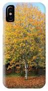 Orange Autumn Tree IPhone Case