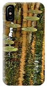 Orange Bamboo Abstract, Reflection On Water IPhone Case