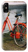 Orange Bicycle In The Street IPhone Case