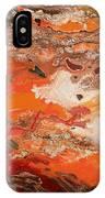 Orange-brown Series No. 3 IPhone Case