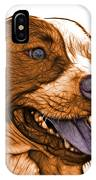 Orange Bull Fractal Pop Art - 7773 - F - Wb IPhone Case