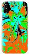 Orange Burst Flower IPhone Case