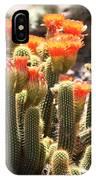 Orange Cactus Blooms IPhone Case