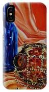 Orange Cloth Blue Bottles IPhone Case