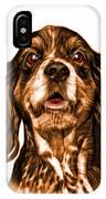 Orange Cocker Spaniel Pop Art - 8249 - Wb IPhone Case