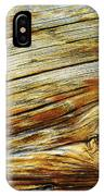 Orange Colored Old Wooden Board IPhone Case